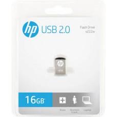 Pen Drive HP MINI V222W 16GB USB 2.0 Prata - HPFD222W-16
