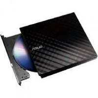 Gravador DVD ASUS Externo Slim Preto 8X SDRW08D2SU Com Log - SDRW08D2SU