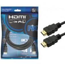 Cabo HDMI PIX Gold 1.4 - 4k ultrahd 15p 5m - 018-0514