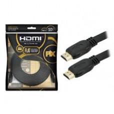 Cabo HDMI PIX Flat Gold - 2.0 4k hdr 19p 10m - 018-5027