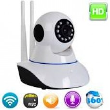 Câmera Ptz Ip 2 Antena 1.3mp Wireless Wifi Audio Sd P2p