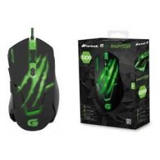Mouse Gamer Fortrek USB RAPTOR OM-801 PT/Verde - 60839
