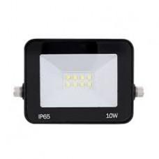 Refletor Holofote Led 10w Branco Frio Bivolt Carcaça Preto